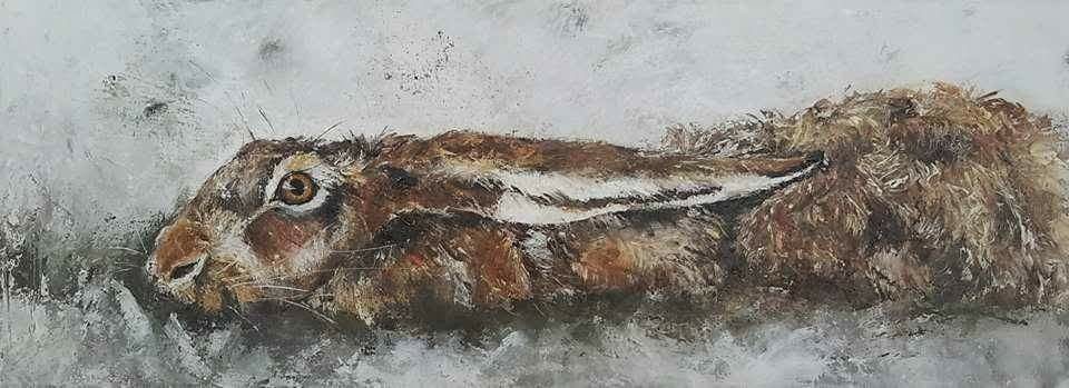 """Hide & Seek"" 30x80 sold Netherlands (available as giclee 30x90)"