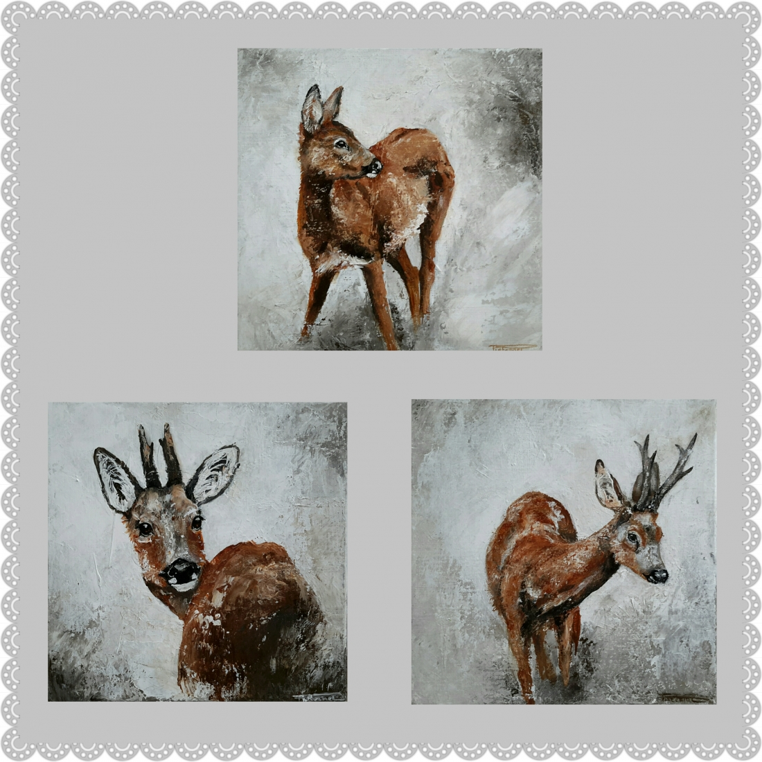 Little Deers 30x30x4 available
