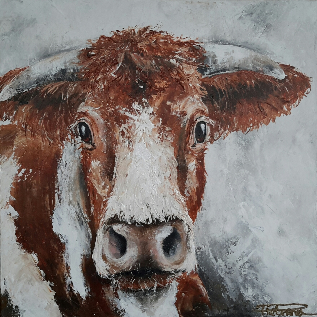 Lovely Cow III 50x50 sold Netherlands (available as giclee 60x60)